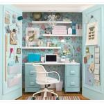 Una oficina en un armario