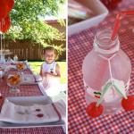 Fiesta de verano con cerezas