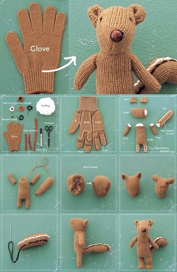 Reciclar guantes de los niños