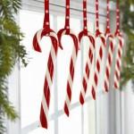 Bastones dulces en Navidad