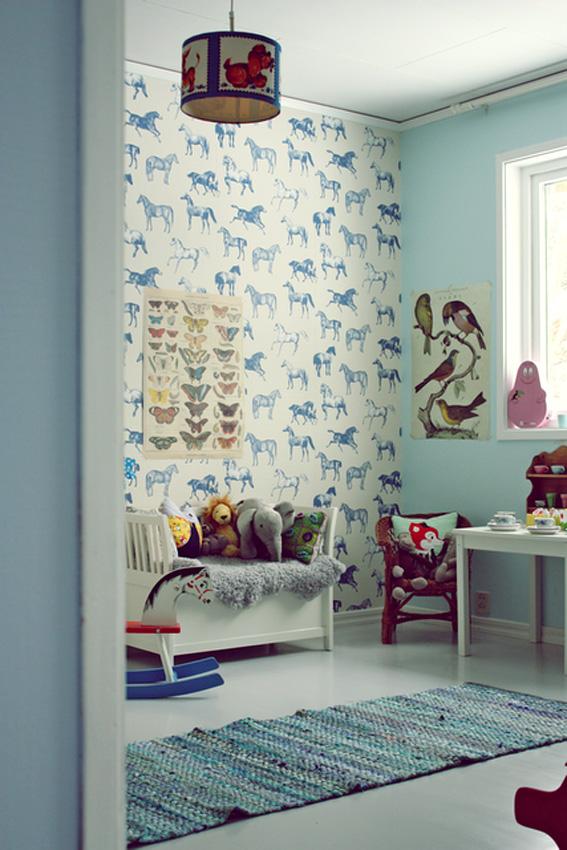 Papeles pintados en los dormitorios infantiles ahora - Papeles pintados dormitorio ...