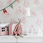 Papeles pintados en los dormitorios infantiles
