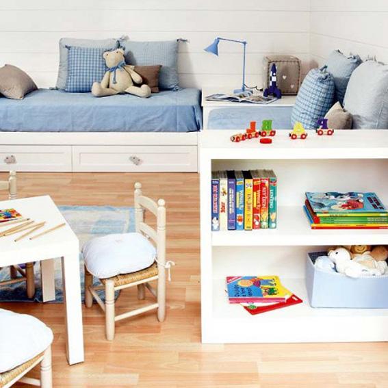 Dormitorio para ni os ahora tambi n mam for Dormitorios con poco espacio