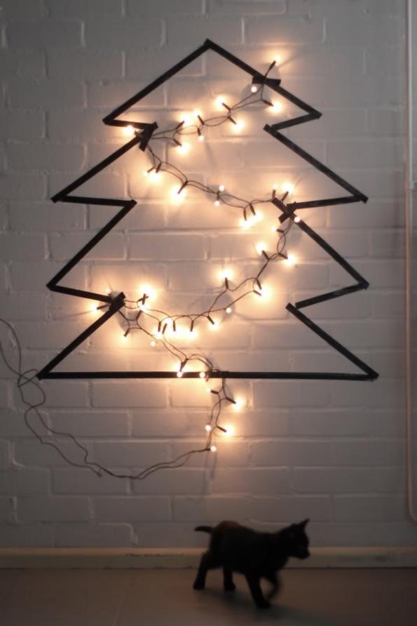 árboles de navidad diferentes luces y washi tape