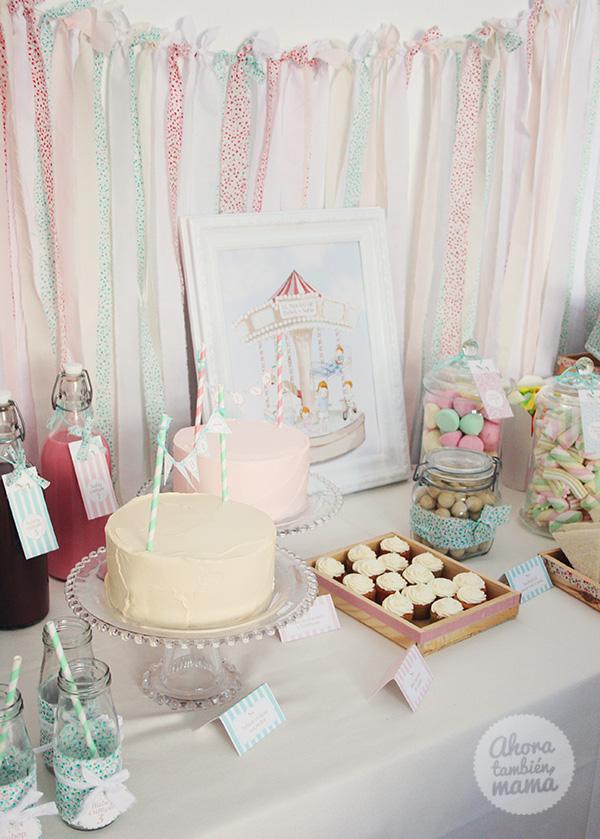fiesta de cumpleaños del tiovivo tartas
