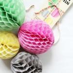 Bolas de nido de abeja para fiestas y decoración