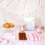 Pack de fiesta de cumpleaños en rosa pastel