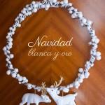 DIY: Corona navideña en blanco y oro