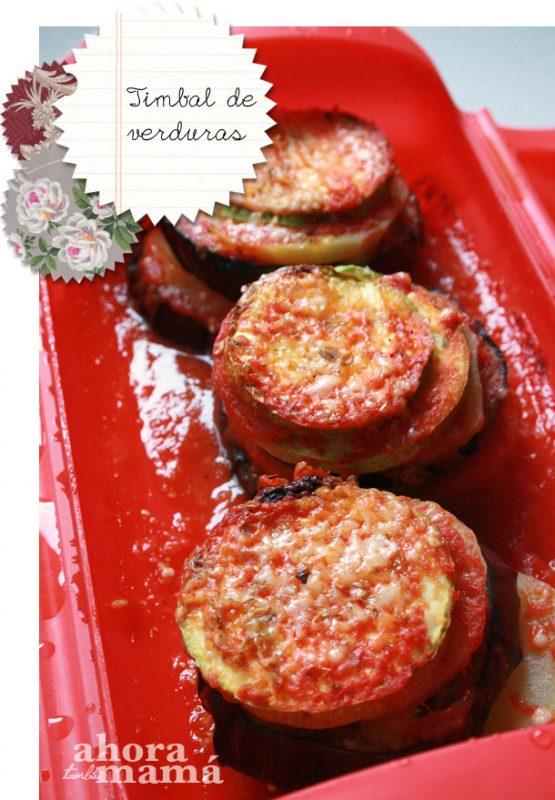 timbal de verduras con lekue
