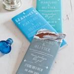 Chocolatinas personalizadas para fiestas