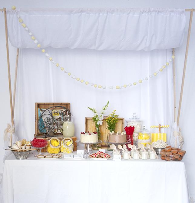fiesta de princesas y caballeros mesa dulce