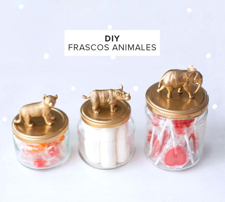 Diy frascos de animales - Diy frascos decorados ...