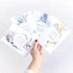 Invitaciones de boda florales con acuarela
