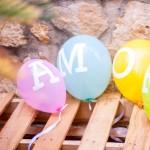 Amor con globos