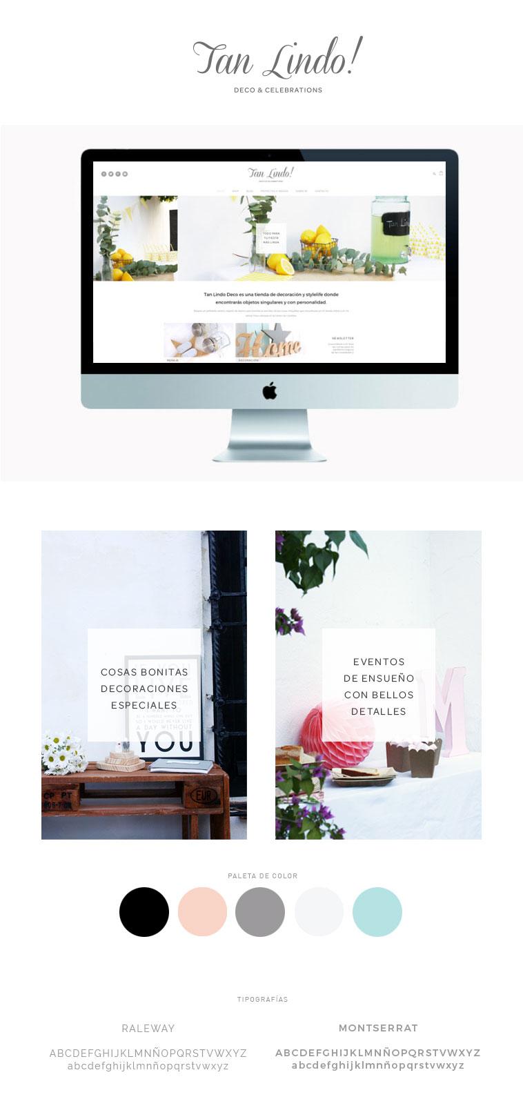 diseño de tienda online para Tan Lindo Deco & Celebrations...