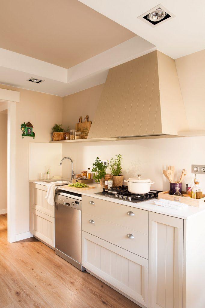 Cocina sin azulejos ahora tambi n mam for Color credence cocina blanca